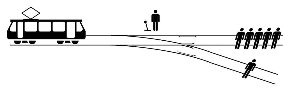 image source: Wikimedia Commons https://commons.wikimedia.org/wiki/File:Trolley_problem.png